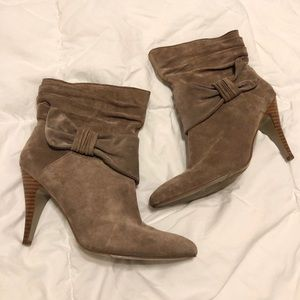 Nine West Light Brown Leather Booties